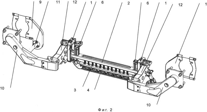 Следяще-стабилизирующее устройство скоростного вагона-дефектоскопа