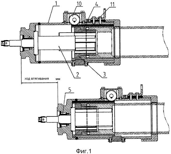 Телескопический механизм в телескопическом прицепном буферном устройстве для использования в высокоскоростных электрических мотор-вагонных составах