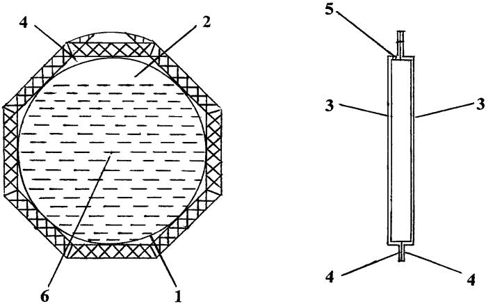 Кювета для спектрометрических измерений активности йода-129 по схеме совпадений и способ ее изготовления