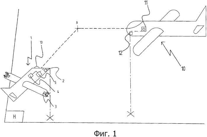 Способ предупреждения столкновения с воздушным судном и беспилотный аппарат, оснащённый системой для осуществления этого способа