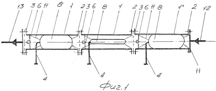 Перекачная секция воздухоприводной диафрагменной насосной системы