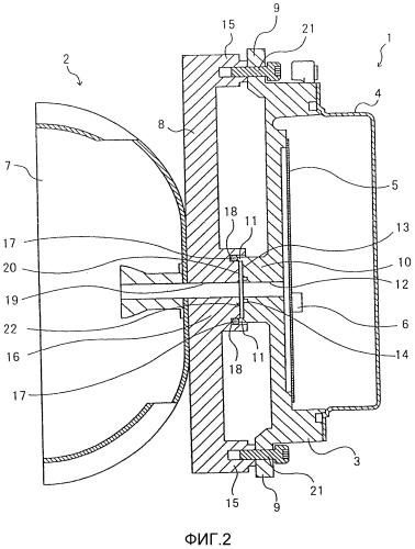 Конструкция соединения между антенным устройством и устройством радиосвязи