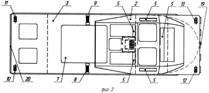 Катер буксирно-моторный и способ буксировки плавучих средств при помощи катера буксирно-моторного (варианты)