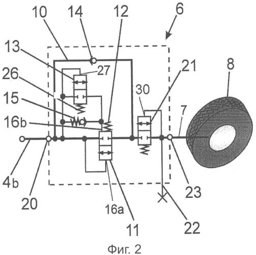 Устройство для согласования давления в шинах во время движения
