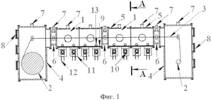 Устройство для нанесения функциональных слоёв тонкоплёночных солнечных элементов на подложку путём осаждения в плазме низкочастотного индукционного разряда трансформаторного типа низкого давления