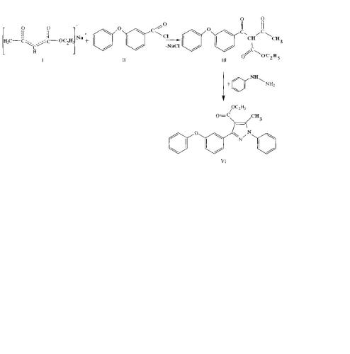Способ получения этил 5-метил-3-(3-феноксифенил)-1-фенил-1н-пиразолил-4-карбоксилата