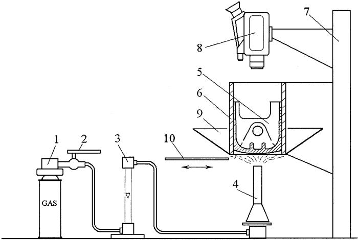 Устройство наблюдения за распределением тепловых потоков в днище поршня для оценки эффективности теплозащитных покрытий на нем