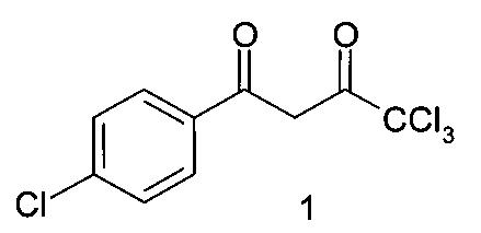 4,4,4-трихлор-1-(4-хлорфенил)бутан-1,3-дион, обладающий анальгетической и противомикробной активностями