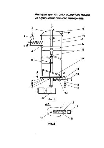 Аппарат для отгонки эфирных масел из эфирно-масличного материала