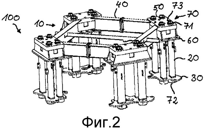 Фундаментное анкерное устройство для рабочей машины
