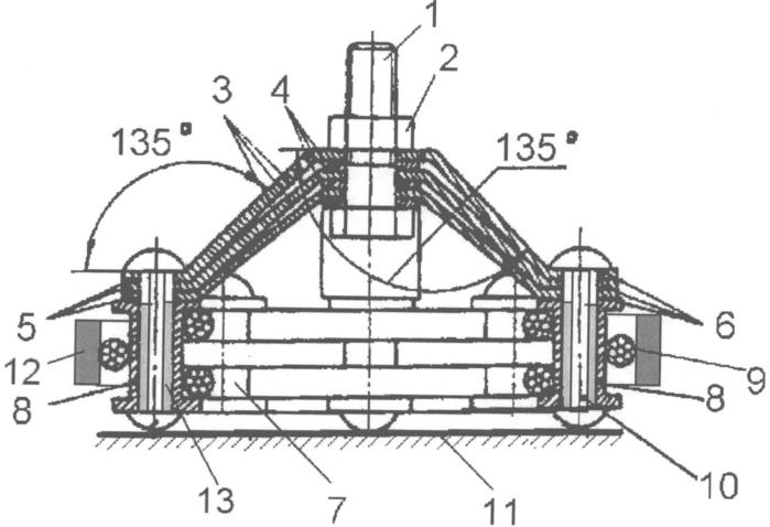 Виброизолятор кочетова с тросовым демпфером