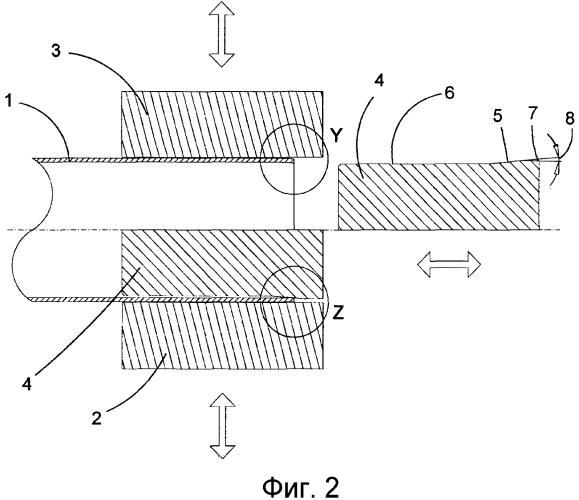 Способ и устройство для нагрева концевого участка пластиковой трубы