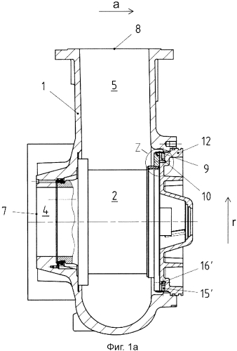 Центробежный насос для жидкостей, содержащих твердые вещества, и устройство для уплотнения зазора