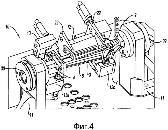 Устройство покрытия оболочкой пера лопатки турбины для обработки ножки, содержащее подвижный во вращении лоткообразный держатель