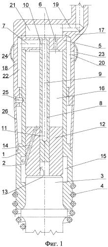 Пневматический молоток с внутренним расположением канала в ударнике