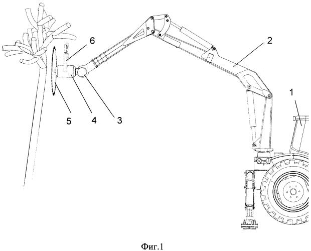 Рабочий орган машины для обрезки крон деревьев