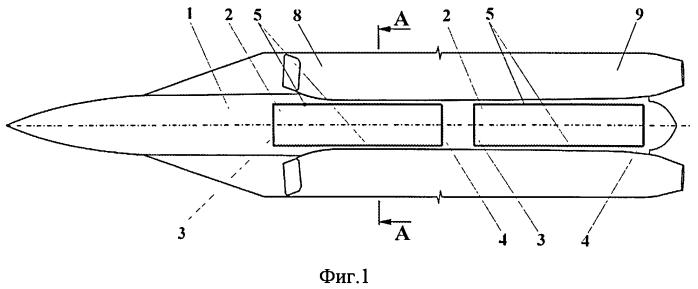 Сверхзвуковой самолет с внутрифюзеляжными грузовыми отсеками