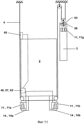 Лифтовая установка, содержащая кабину и противовес