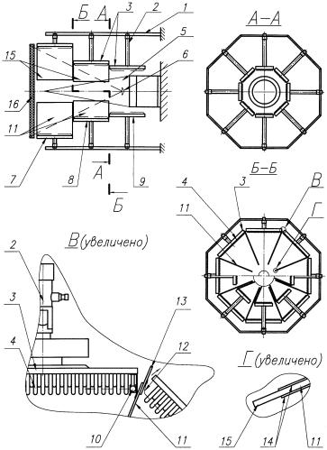 Нагреватель для стенда теплорадиотехнических испытаний радиопрозрачных обтекателей