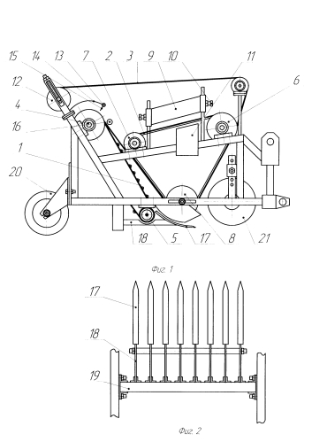 Картофелеуборочный миникомбайн с прутково-ленточным сепаратором