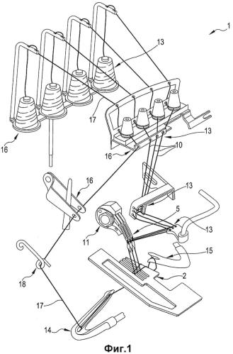 Швейная машина и способ сшивания посредством указанной швейной машины по меньшей мере двух перекрывающихся отворотов текстильного материала