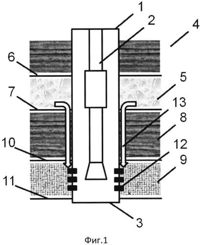 Способ изоляции заколонной циркуляции из вышерасположенного неперфорированного водоносного слоя в нижерасположенный перфорированный нефтеносный слой
