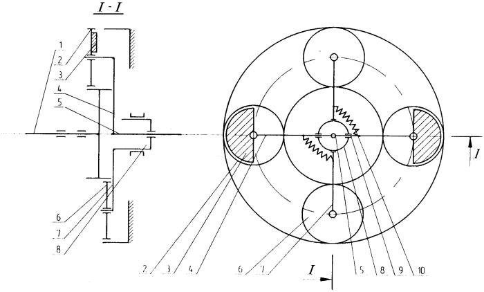 Импульсный вращатель привода рабочего органа машин