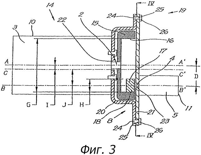 Соединительное устройство между ведущим валом двигателя и ведомым валом ведомого аппарата