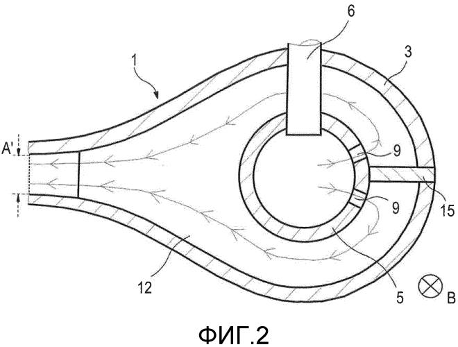 Устройство для направления потока для охлаждения валка или металлической полосы