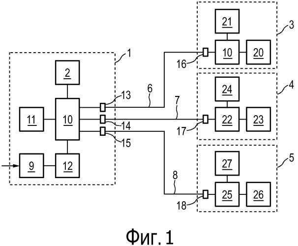 Устройство для запитывания потребителя электроэнергии через информационное соединение