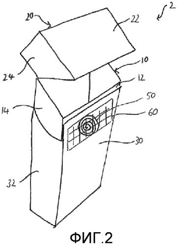 Контейнер, имеющий взаимодействующие элементы поверхности, включающие в себя элемент оформления