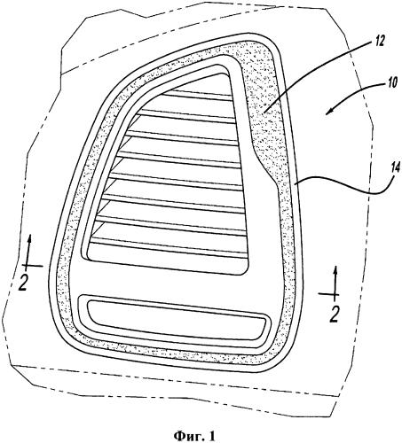 Способ формования цельной обрамляющей накладки внутренней отделки салона с несколькими неокрашенными поверхностями