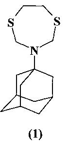 Способ получения 3-(1-адамантил)-1,5,3-дитиазепана и его применение в качестве средства с фунгицидной активностью