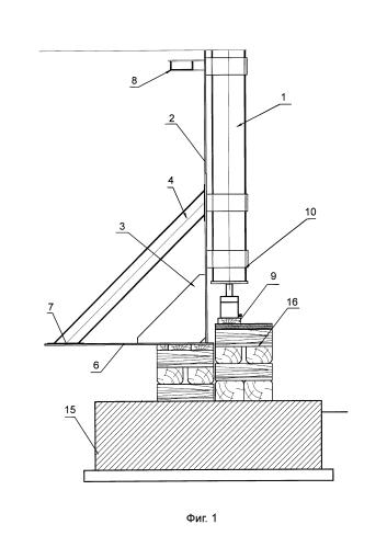 Способ подъема и удержания вертикального стального резервуара
