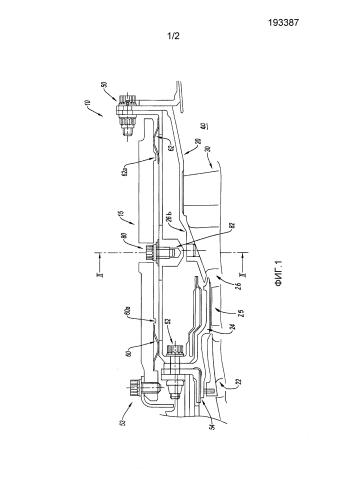 Способ крепления экранирующей оболочки на корпусе турбины и система крепления для его реализации