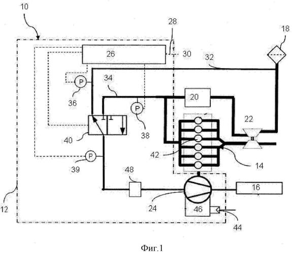 Клапанное устройство для управления подводом воздуха для компрессора транспортного средства, а также компрессорная система и способ управления компрессорной системой