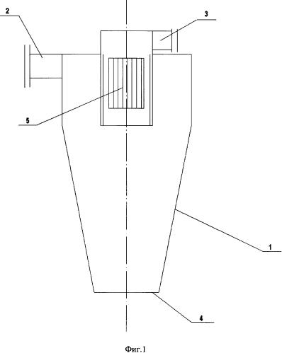 Дегазатор для воздушных сред, содержащих крупные твердые фракции