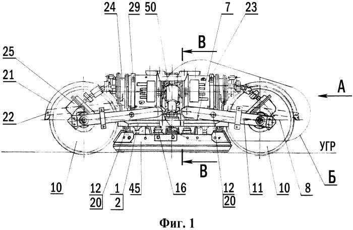 Тележка приводная рельсового транспортного средства, преимущественно трамвая с низким полом