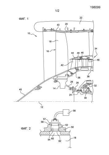 Вентилятор или компрессор турбомашины