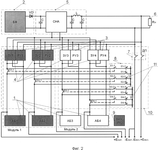 Способ эксплуатации никель-водородных аккумуляторных батарей системы электропитания модульного исполнения (варианты)