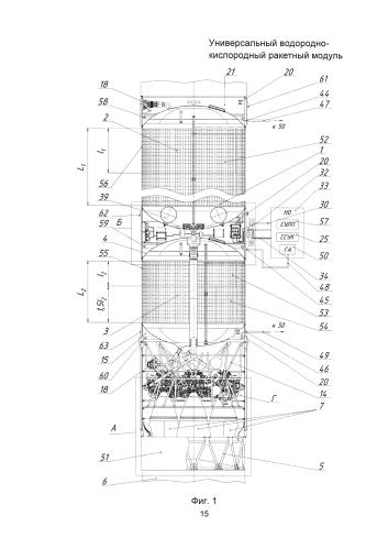 Универсальный водородно-кислородный ракетный модуль
