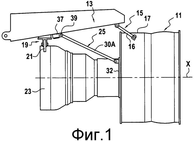 Устройство для подвески турбореактивного двигателя