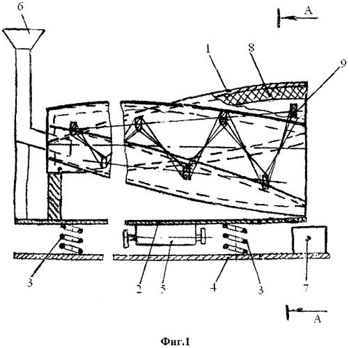 Вибрационная машина для предпосевной обработки семян