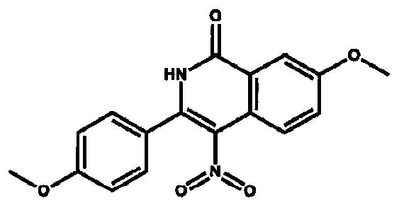 Способ синтеза 7-метокси-4-нитро-3-(п-метоксифенил) изохинолинона