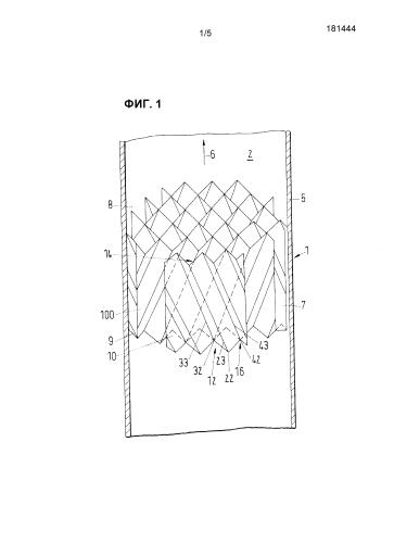 Способ массообмена, структурированная насадка и массообменное устройство для низкой жидкостной нагрузки