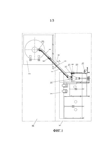 Система транспортировки пробки, а также производственная линия по очистке пробки и укупорке, расположенные между машиной для очистки резиновой пробки и машиной наполнения и укупорки
