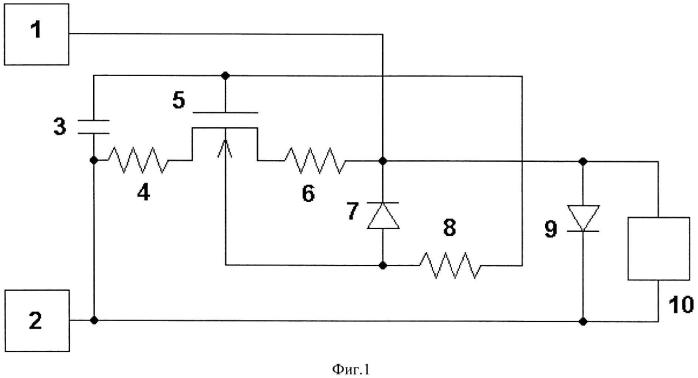 Устройство защиты от разрядов статического электричества выводов питания комплементарных моп (металл-окисел-полупроводник) интегральных схем на кремниевых пластинах с проводимостью n-типа