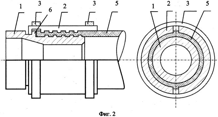 Узел соединения армированной полимерной трубы