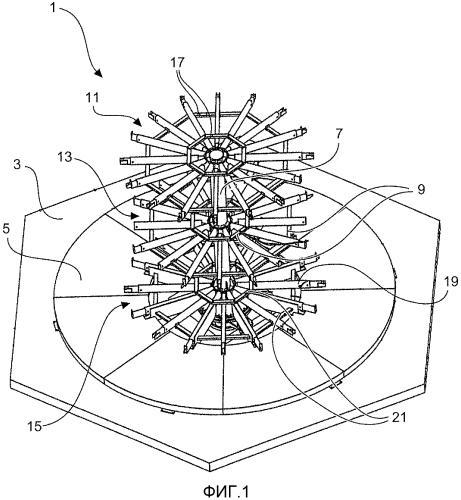 Устройство для изготовления арматурных каркасов для сегментов башен, в частности для сегментов башен ветроэнергетических установок