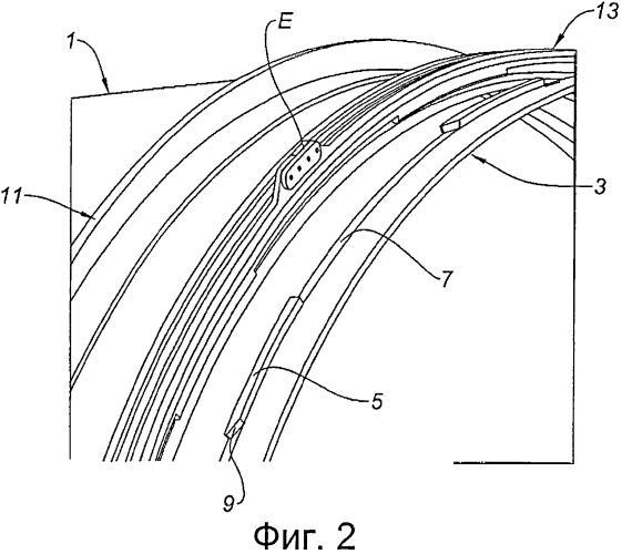 Устройство для соединения передней рамы реверсора тяги с кожухом вентилятора и гондола, содержащая такое устройство